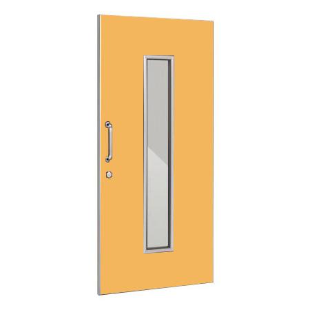 パーテーションLPX 片引き窓付ドアパネル 高さ1900 イエロー