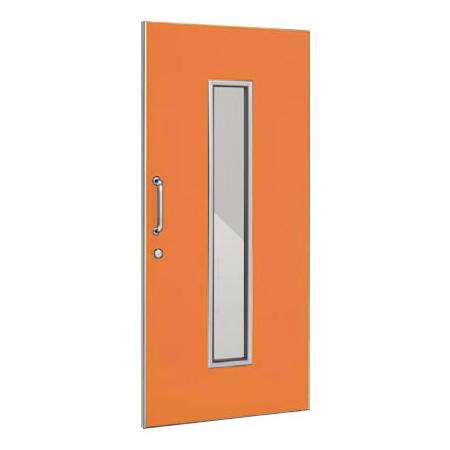 パーテーションLPX 片引き窓付ドアパネル 高さ1900 オレンジ