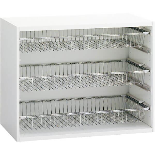 L8C2AZ-ZA75 アソシアード ワイヤーバスケット棚 ネオホワイト