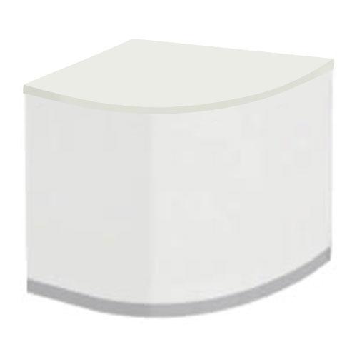ローカウンター 曲線フォルムコーナー クローズタイプ ホワイト