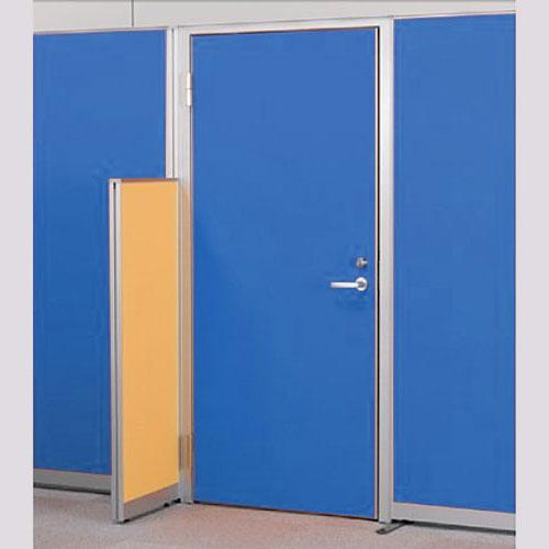 パーテーションLPX 左開き窓なしドアパネル 高さ1900 ブルー