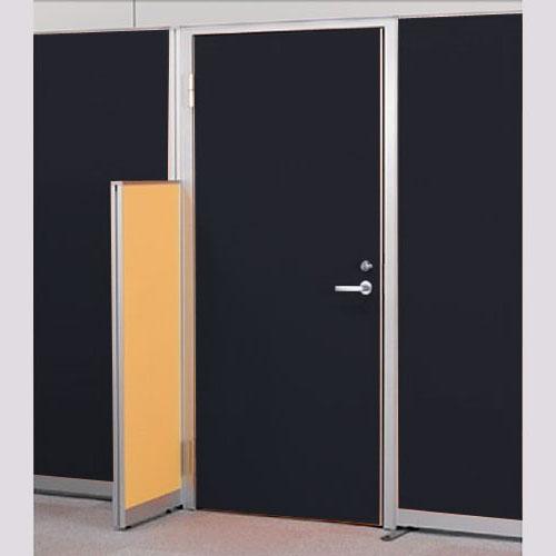 パーテーションLPX 左開き窓なしドアパネル 高さ1900 ブラック