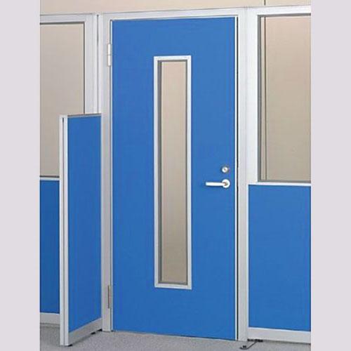 パーテーションLPX 左開き窓付ドアパネル 高さ1900 ブルー