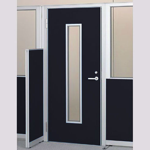 パーテーションLPX 左開き窓付ドアパネル 高さ1900 ブラック