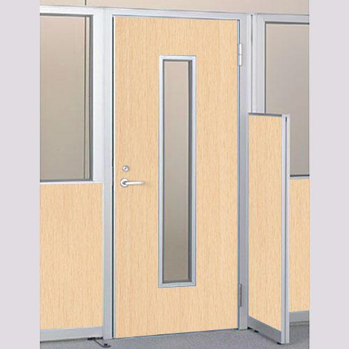 パーテーションLPX 右開き窓付ドアパネル 高さ1900 ライト木目