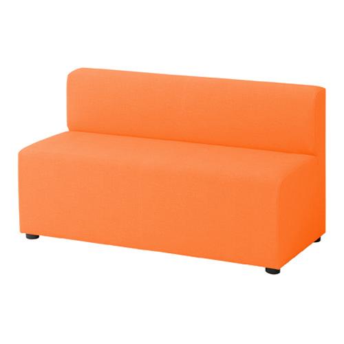 LB79ボックスロビーソファ 2人用イス オレンジ
