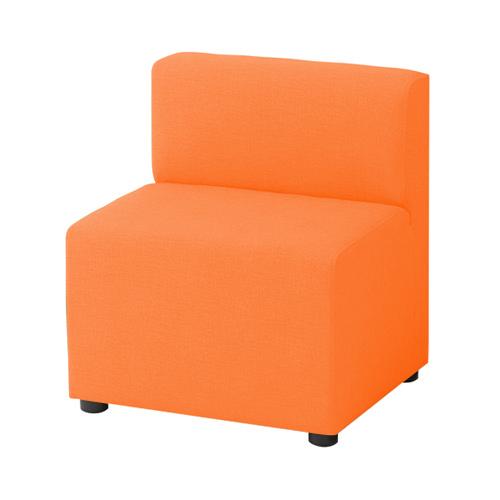 LB79ボックスロビーソファ 1人用イス オレンジ