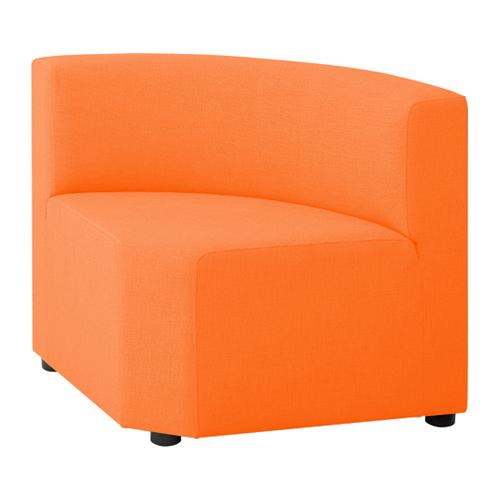 LB79ボックスロビーソファ 内コーナーイス オレンジ