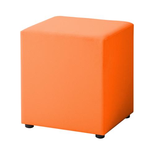 LB79ボックスロビーソファ 角ハイスツール オレンジ