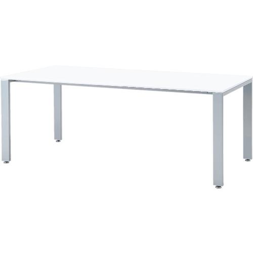 会議テーブル UTS 幅1800 奥行900 シルバー脚 ホワイト