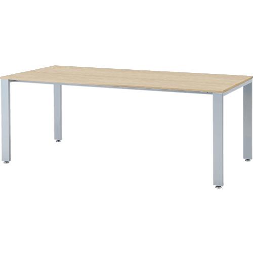 会議テーブル UTS 幅1800 奥行900 シルバー脚 ナチュラル
