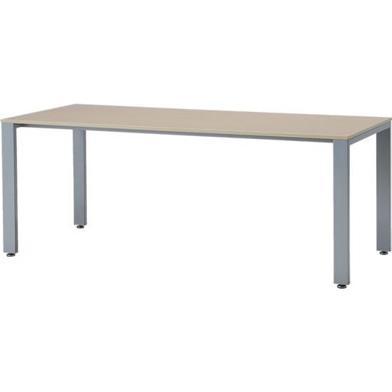 会議テーブル UTS 幅1800 奥行750 シルバー脚 ナチュラル