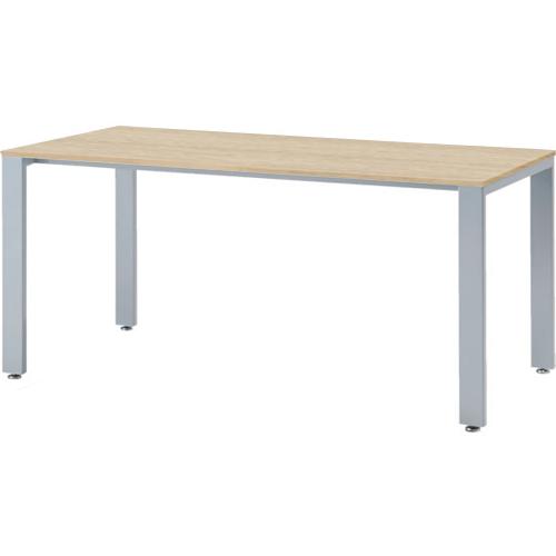 会議テーブル UTS 幅1500 奥行750 シルバー脚 ナチュラル