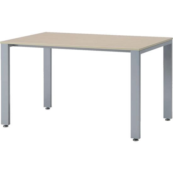 会議テーブル UTS 幅1200 奥行750 シルバー脚 ナチュラル