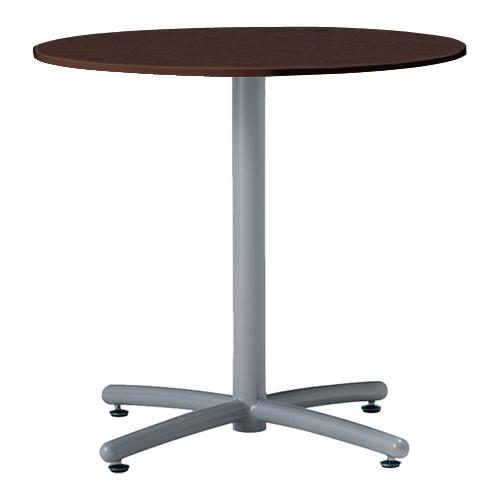 会議テーブル UTS φ750 シルバー脚 ダークブラウン