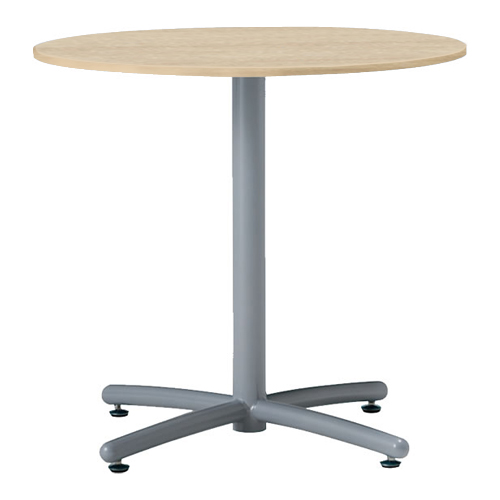 会議テーブル UTS φ750 シルバー脚 ナチュラル