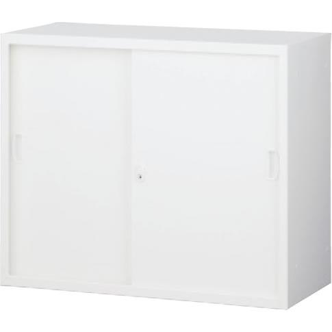 スチール引戸書庫 上置用 ホワイト 幅880×奥行400×高さ730mm