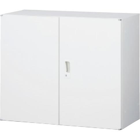 スチール両開き書庫 上置用 ホワイト 幅880×奥行400×高さ730mm