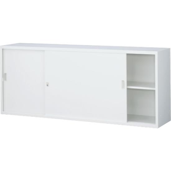 スチール引戸書庫 上置用 ホワイト 幅1760×奥行400×高さ730mm