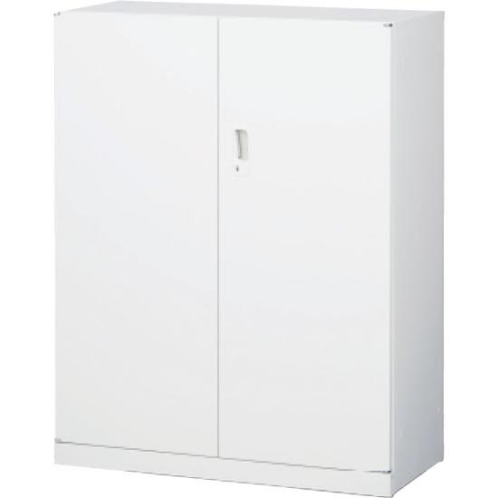 スチール両開き書庫 下置用 ホワイト 幅880×奥行400×高さ1120mm