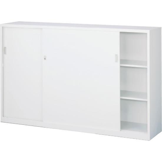 スチール引戸書庫 下置用 ホワイト 幅1760×奥行400×高さ1120mm