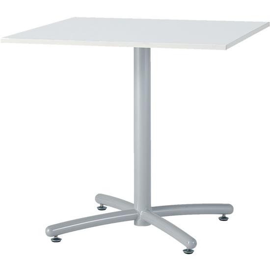 会議テーブル UTS 幅750 奥行750 シルバー脚 ホワイト