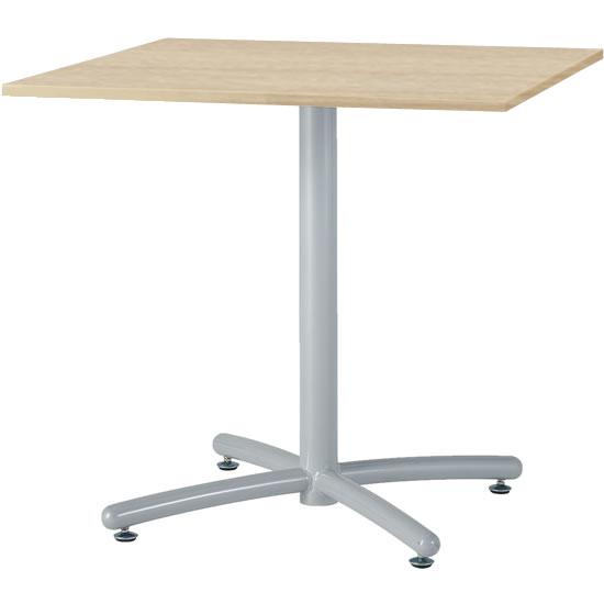 会議テーブル UTS 幅750 奥行750 シルバー脚 ナチュラル