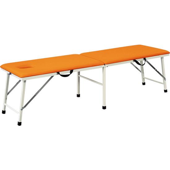 ポータブルベッド オレンジ 有孔タイプ