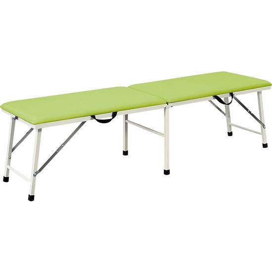 ポータブルベッド ライトグリーン フラットタイプ