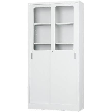 コンビ引戸書庫 下置用 ホワイトグレー 幅880×奥行400×高さ1790mm