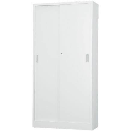 スチール引戸書庫 下置用 ホワイトグレー 幅880×奥行400×高さ1790mm