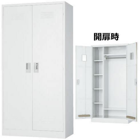ワードローブ 幅880 奥行515 高さ1790 可動棚兼用 ホワイト