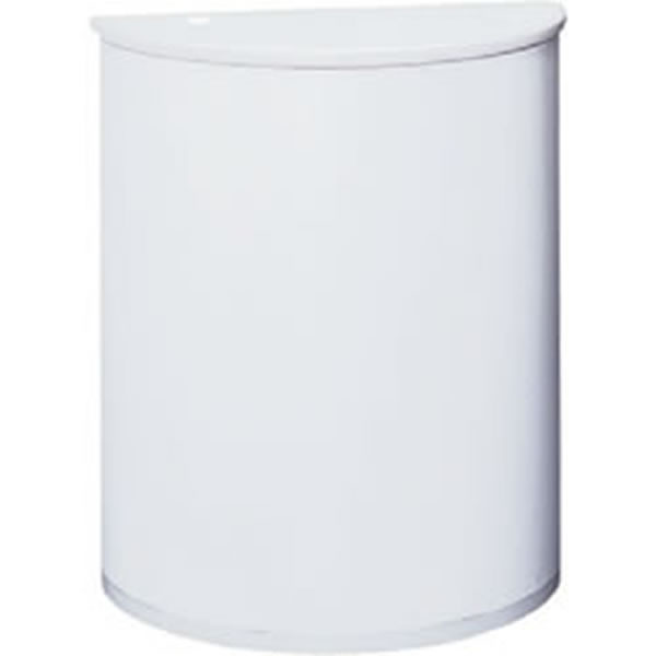 インフォメーションカウンター ホワイト 半円形