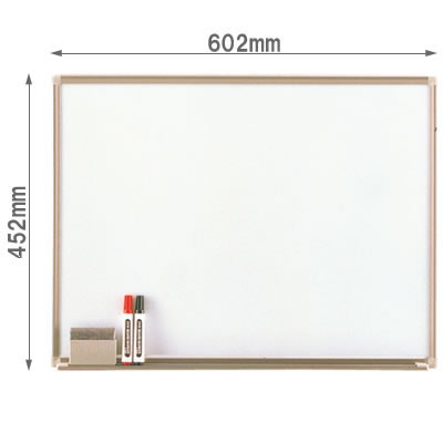 壁掛けホワイトボード ホーロー 幅602mm
