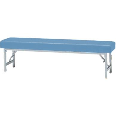ロビーチェアー ブルー 幅1500mm 折りたたみ式