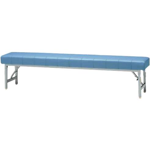 ロビーチェアー ブルー 幅1800mm 折りたたみ式