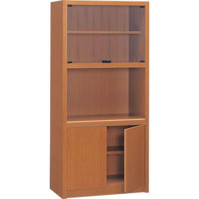 書棚 幅841×奥行450×高さ1800mm ブラウン