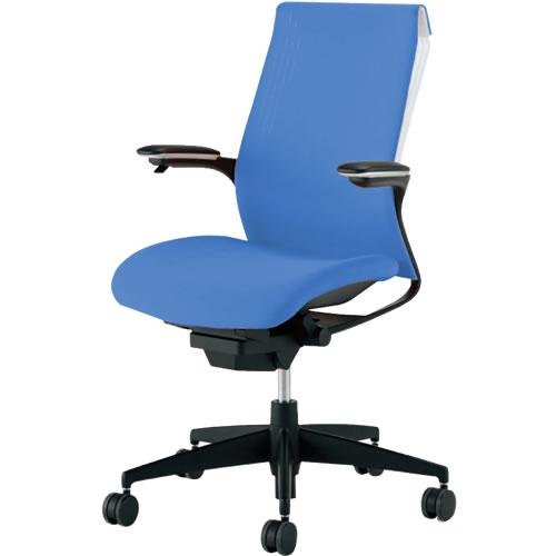 オフィスチェア 「M4」 可動肘付き ソフトブルー