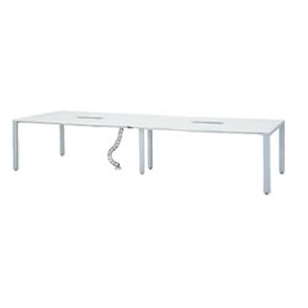 会議用テーブル UTS 幅3600 シルバー脚 ホワイト