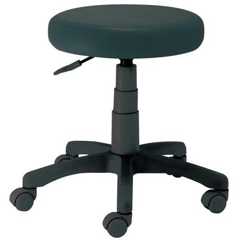 作業用丸椅子 ブラック