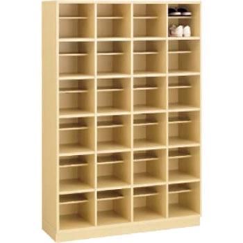 木製ザパート 24人用 オープンシューズボックス 4列6段 中棚付