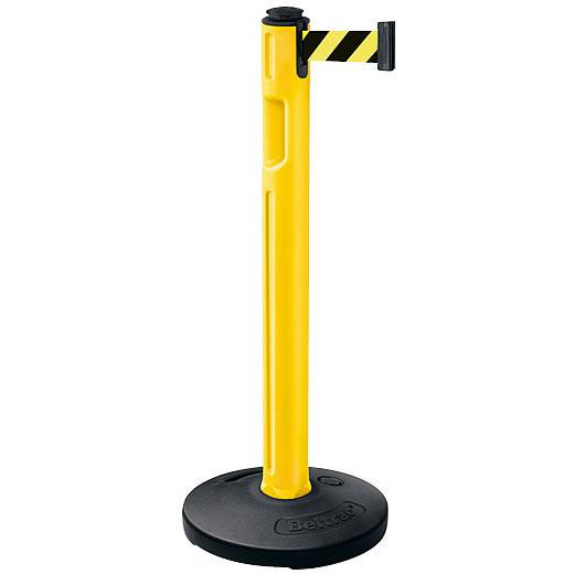 屋外用ベルトパーテーション 注水タイプ ベルトカラー:イエローブラック 支柱カラー:イエロー