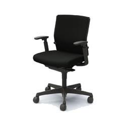 オフィスチェア「エスクード」 ローバック アジャストアーム付 ブラック