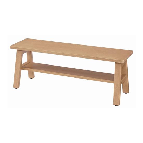 オカムラ シェアードスペース ウッドベンチ 2人用