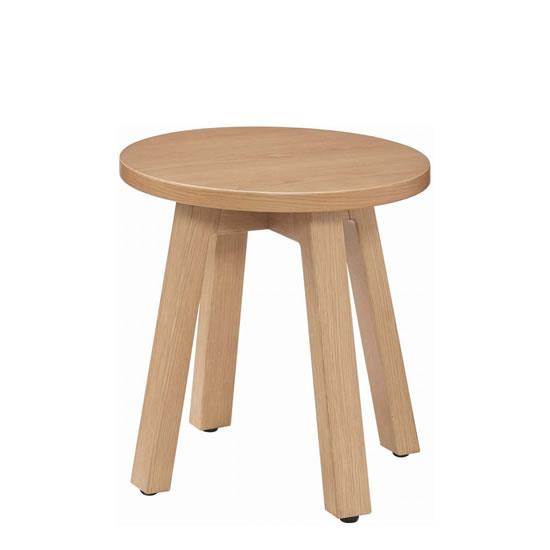 シェアードスペース サークルローテーブル 木製 φ500mm