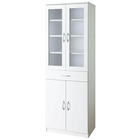 キッチンキャビネット ハイタイプ 幅600mm ホワイト
