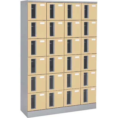 共用スペースザパート扉付24人窓付シリンダー錠 ネオウッドライト