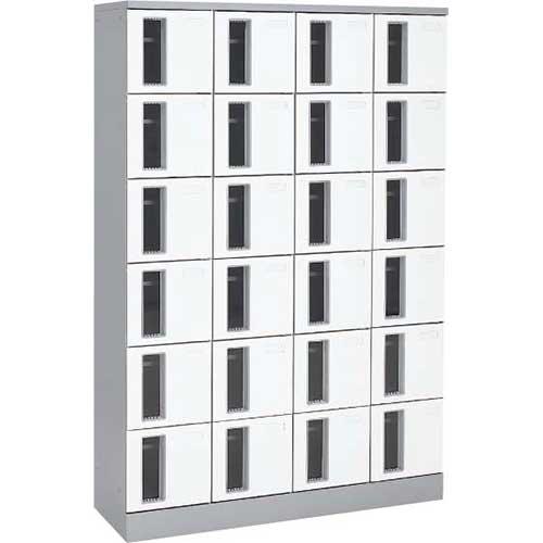 共用スペースザパート扉付24人窓付シリンダー錠 ネオホワイト