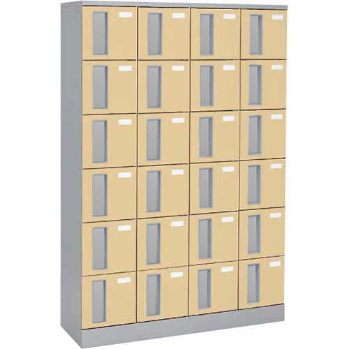 共用スペースザパート扉付24人窓無シリンダー錠 ネオウッドライト