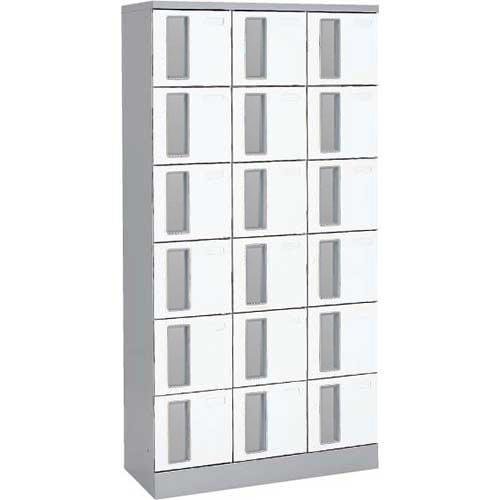 共用スペースザパート扉付18人窓無鍵無 ネオホワイト